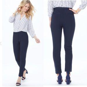 NYDJ Ponte Knit Midnight Blue Slim Ankle Pants